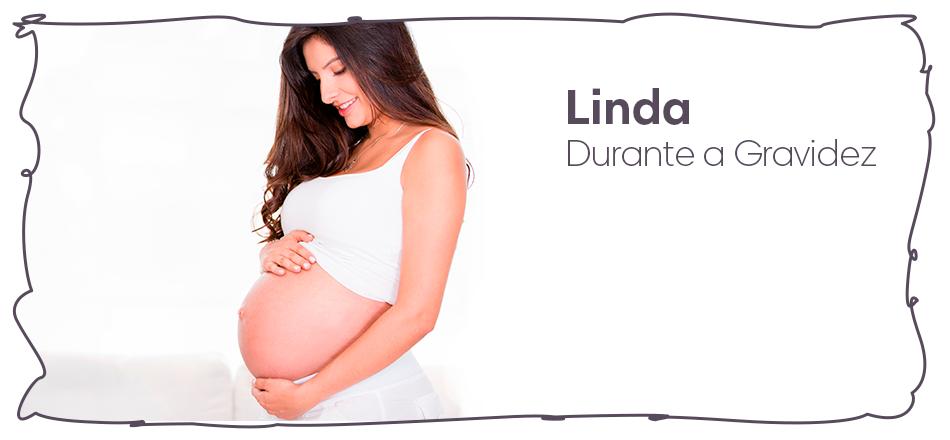 Linda durante a gravidez